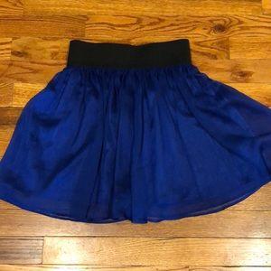 Forever 21 blue elastic waist skirt. Size XS.